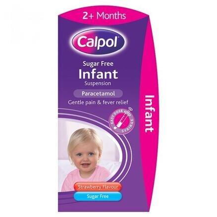Calpol Infant Sugar Free Oral Suspension Strawberry Flavour 2+ Months