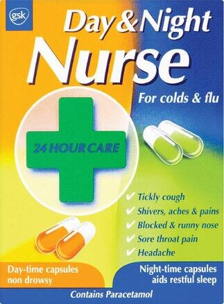 Day & Night Nurse Cold and Flu - 24 Capsules