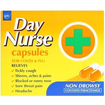 Day Nurse Cold and Flu Capsules 20s
