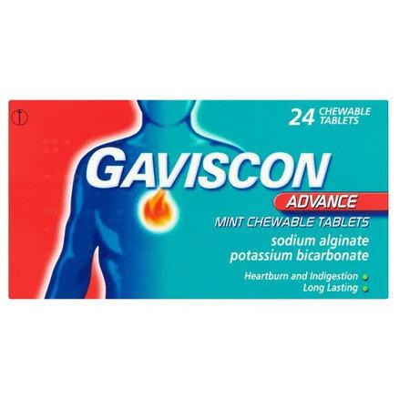 Gaviscon Advance 24 Mint Chewable Tablets