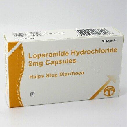 Loperamide Hydrochloride 2mg - 30 Capsules