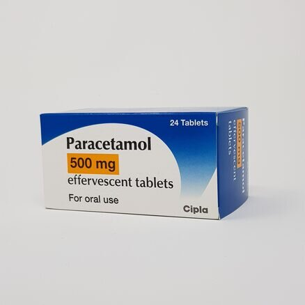 Paracetamol 500mg Effervescent Soluble Tablets (24)