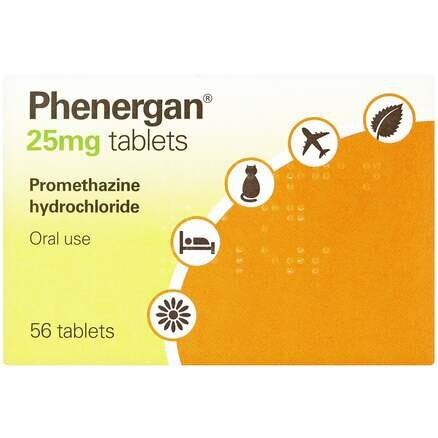 Phenergan 25mg - 56 Tablets