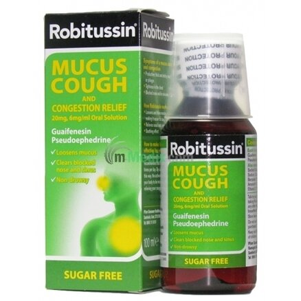 Robitussin Mucus Cough and Congestion Relief - 100ml