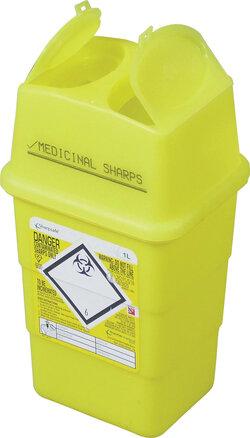 Sharps Disposal Box 1 Litre Yellow